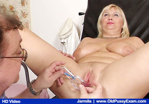 Big-titted Blond Gets Muff Examined on Hospital Chair with Physician