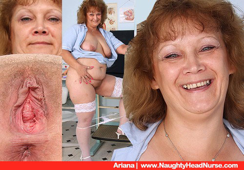 Cougar FATTY Gynecologist Undresses to Show Large Screw cunny in Closeup
