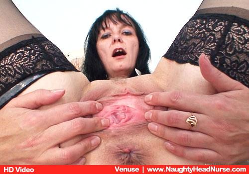 Elder Fine Brunette Venuse Forces Bum and Moans