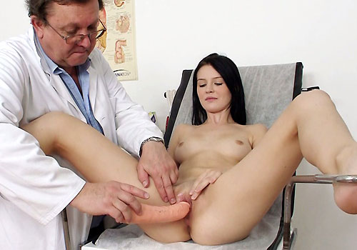 Hot Lucianna getting tested by a real physician