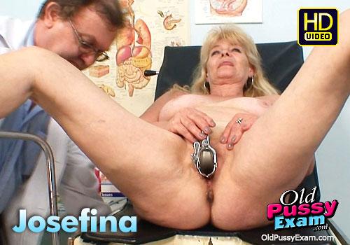 Josefina Old Pussy Mature Gyno Kinky Exam Video