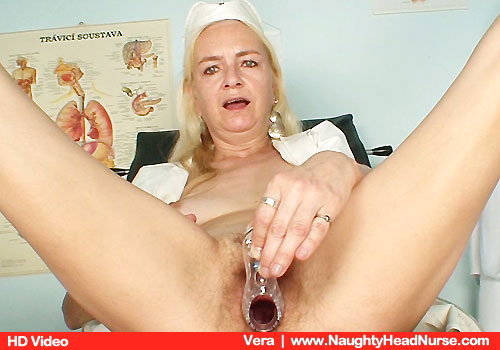Lean Practical nurse with Small Juggs Fingering muff Puss on Chair
