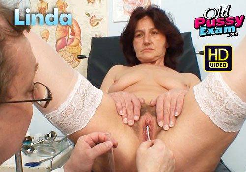 Mature Linda Pussy Gaping Doctor HD Video