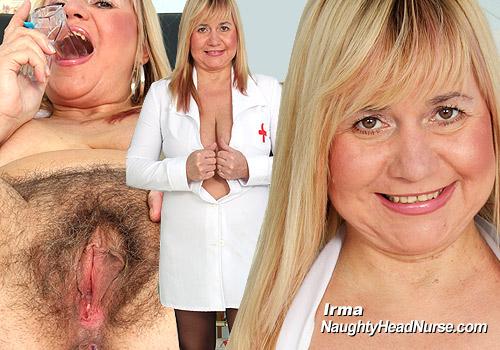 Mature Nurse Irma Pussy Speculum Masturbating