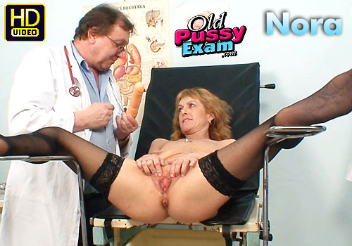 Mature Old Speculum Exam of Nora