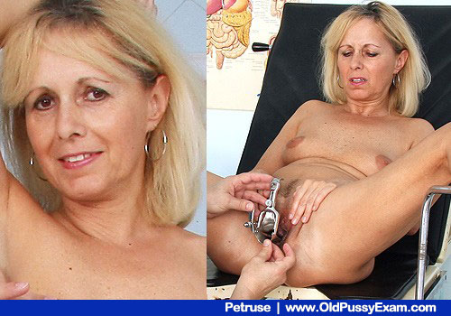 Mom Blond-haired Petruse with Small Juggs Spreads Legs