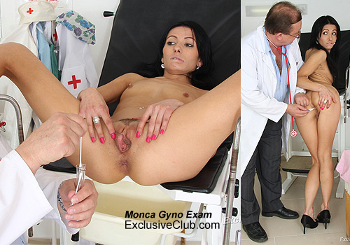 Monca Visitng Gyno Doctor For Clinic Pussy Exam