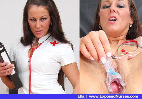 Nurse medic Ella is ready for a full body inspection