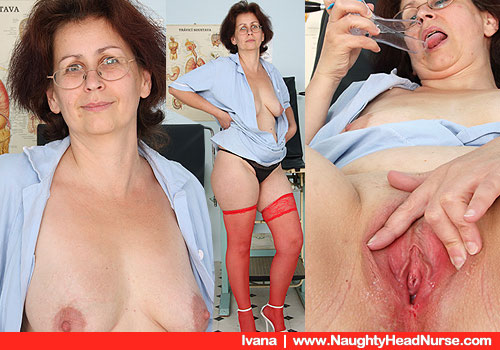 Old Ivana inclusive of Natural Juggs Takes off Nurse doc Costume and Playing plus herself