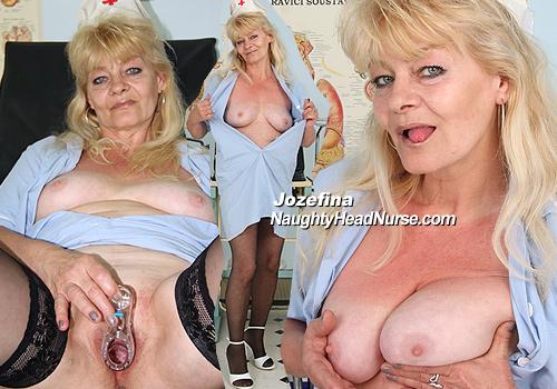 Old Mature Nurse Josefina Fetish Pussy Closeups