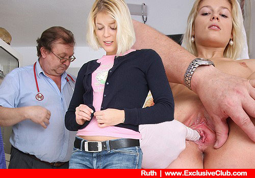 Ruth Undresses to Get Caressed by White Gloved Hand