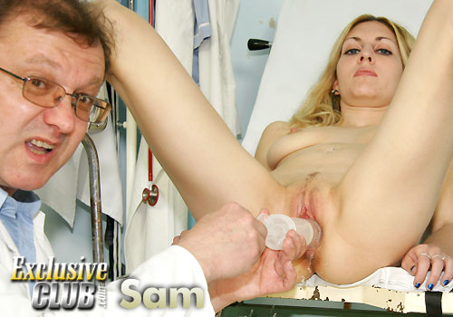 Sam Gyno Speculum Exam Photoset