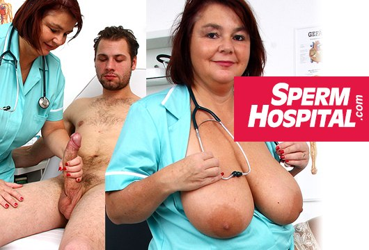 sperm hospital medical handjob milf porn