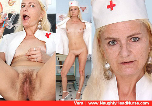 Thin Mama Registered nurse Takes off Uniform in Gyno hospital